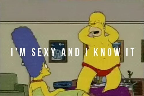 cartoon, funny, homer, lol, marge, sexy, simpsons, typography