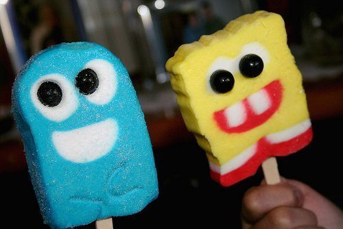 cartoons, colorful, cool, cute, ice-cream, photography, spongebob