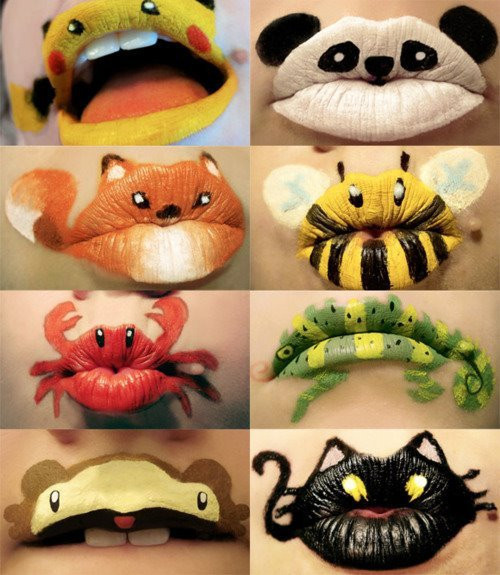 cat, cute, girly, lips, panda