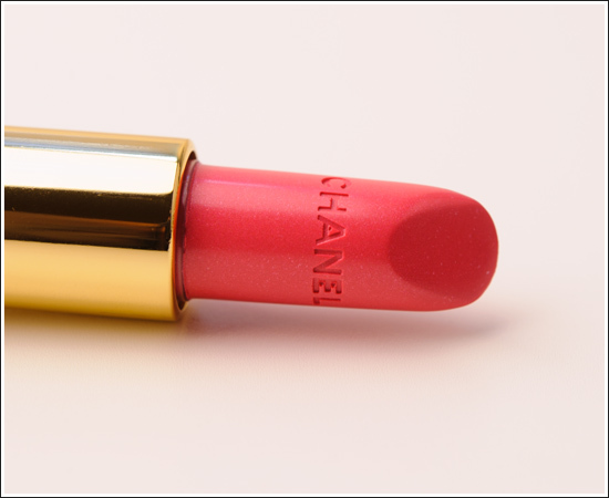 chanel, gold, lipstick, makeup, pink, red, rouge, soft