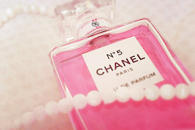 chanel, parfume, pearls, pink
