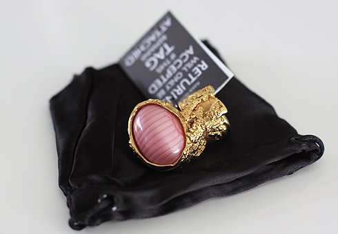 chic, fashion, glam, gold, jewellery, pink, ring, style, vogue