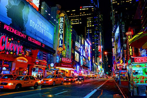 city, color, colour, colourful, dream, lights, new york, pretty, times square