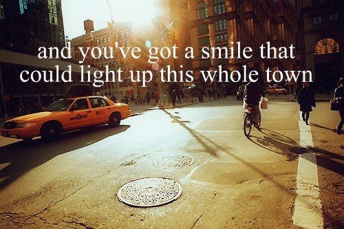 city, light, lyrics, smile, song