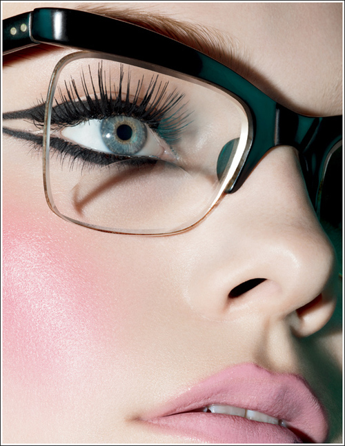 classy, eyes, girl, glasses, makeup, pretty