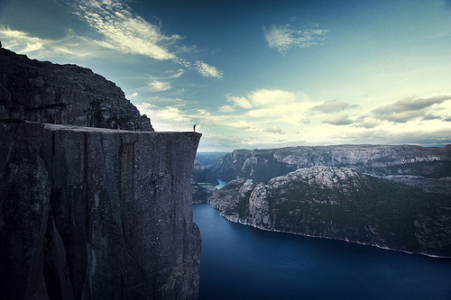 cliff, fjord, high, landscape, nature