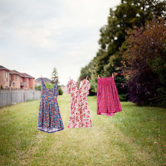 clothes, clothesline, dress, dresses, flower