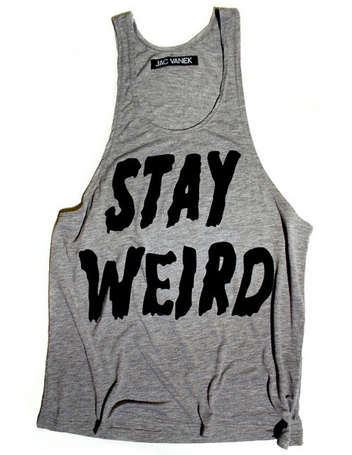 clothes, cool, fashion, stay weird, style, vest, weird