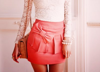 clothes, cute, fashion, girl, lace, pearls, skirt, style