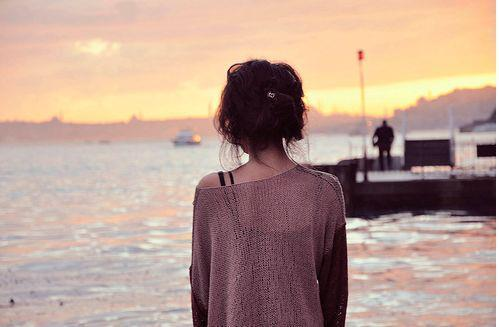 clothes, fashion, girl, hair, ocean