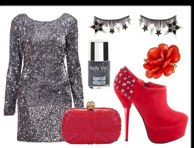 clutch, dress, fashion, girl, glittering dress