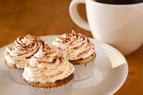 coffee, cupcakes, cute, delicious, dessert