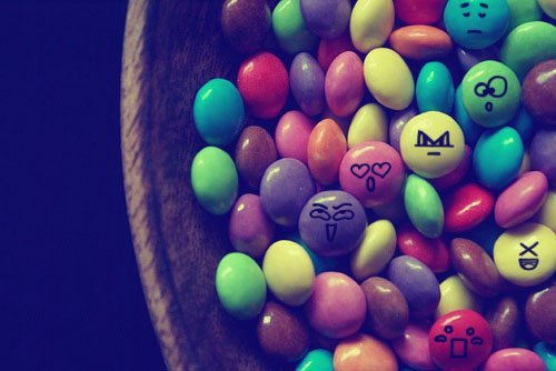 color, cute, faces, smarties, sweets
