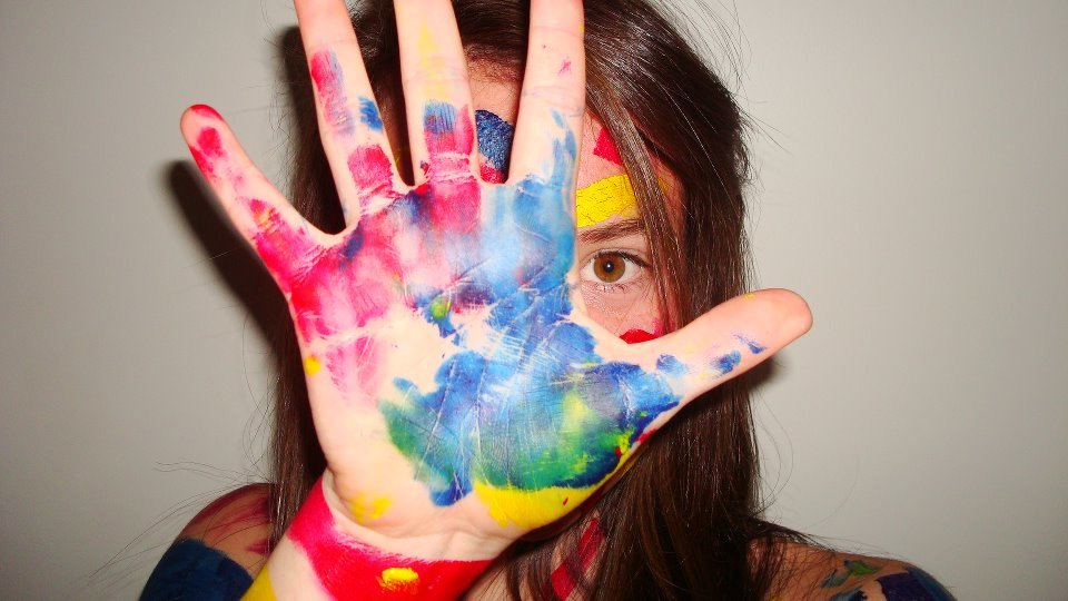 colourful, fun, girl, keely, paint