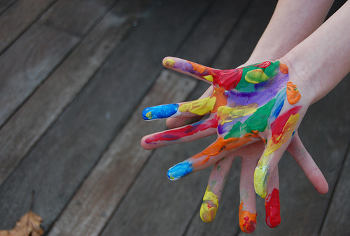 colourful, hands, paint, painted hands, photography
