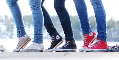 converse, cool, fashion, friends, photos du mur