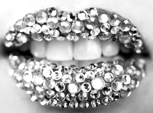 cool, diamonds, lips, love, photography