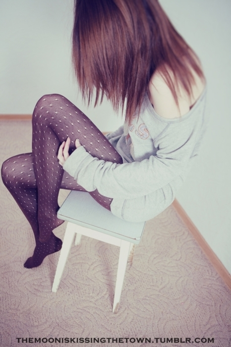 cool, girl, hair, pantyhose, shy