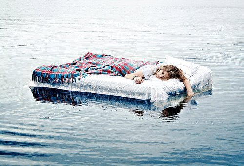 cool, girl, sleep, water