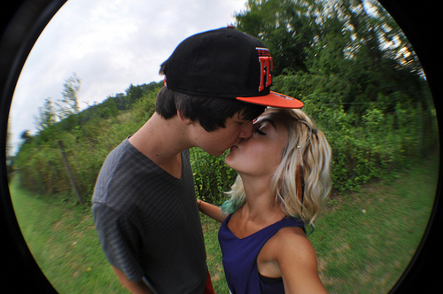 couple, cute, kiss, love