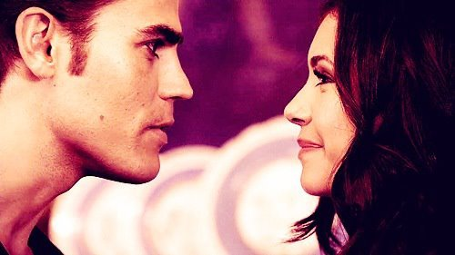 couple, elena gilbert, katherine pierce, nina dobrev, paul wesley, stefan salvatore, stelena, the vampire diaries