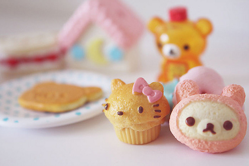 cupcake, cute, doll, hello kitty, japan, japanese, kawaii, kiiroitori, kitty, korilakkuma, plush, rilakkuma, san-x, sanrio, sweet, toy