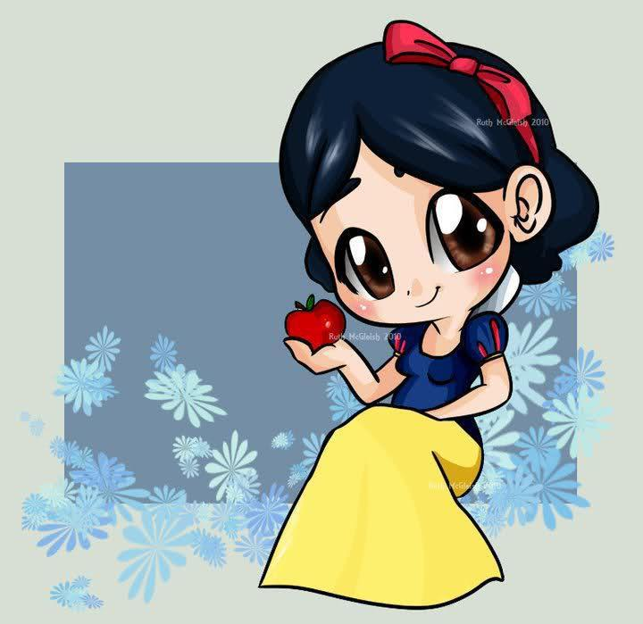 cute, disney, drawings, girl, snowhite