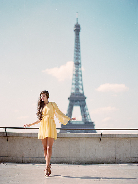 cute, dress, eiffel tower, fashion, france