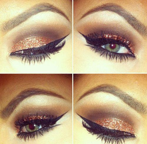 cute, eye, eye makeup, eye shadow, eyes, face, hot, sequins, make up, fashion, style, pretty, makeup