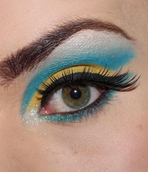 cute, eye, eye shadow, eyes, face, fashion, hot, makeup, pretty, sequins, style