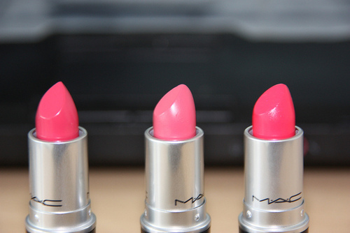 cute, famous, fashion, girly, lip gloss, lipstick mac, mac, make up, makeup, pink, pretty