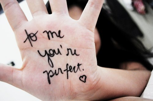 cute, girl, hair, hand, heart, perfect, quote, text