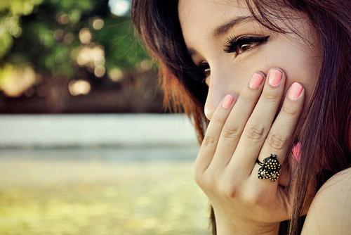 cute, hair, hands, make, nails, nature, photograph, pink