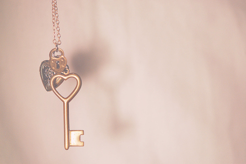 cute, heart, key, love