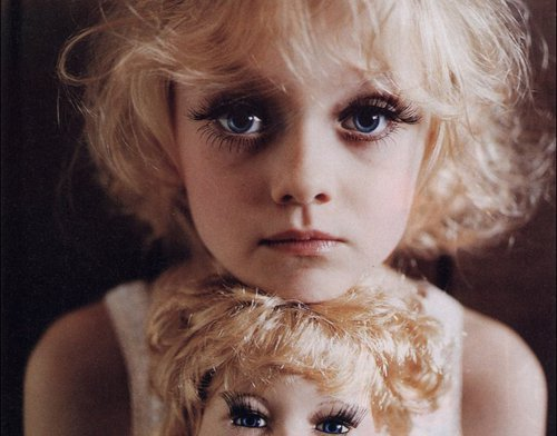 dakota, dakota fanning, doll, make up, pretty, youn people