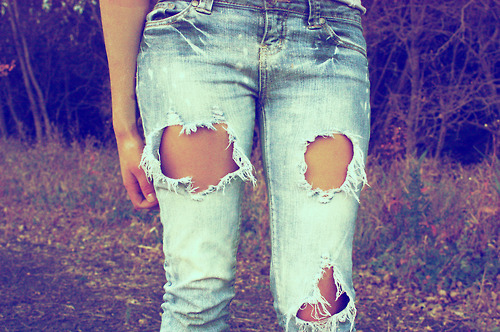 denim, eans, fashion, girl, ripped