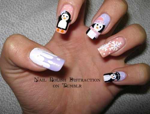 design, lavender, mani, manicure, mixed