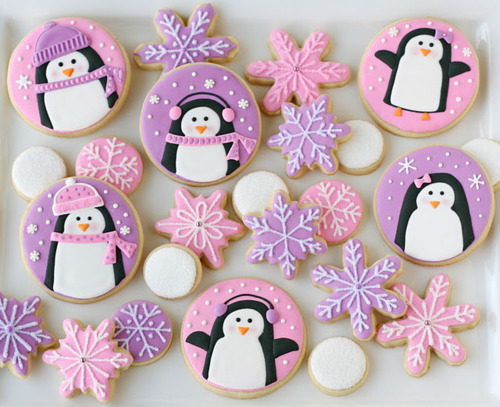 design, lavender, nail, nail art, nail polish, nails, penguin, penguins, pink, polish, snow, snowflakes, winter