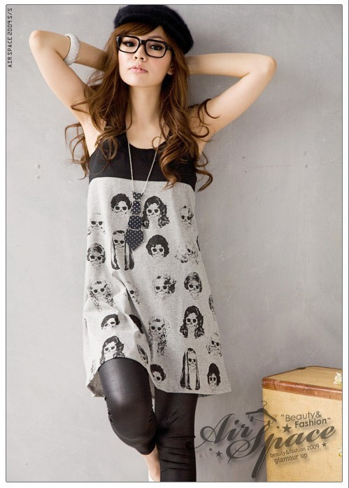 dress, fashion, girl, skulls