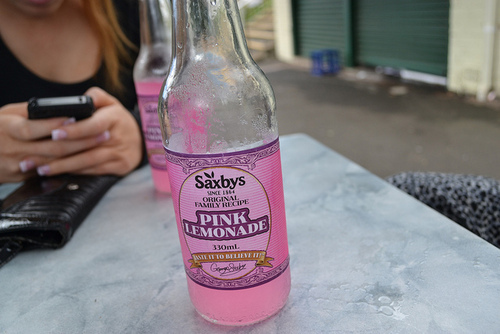 drink, girl, limonade, pink, pink limonade, yummy
