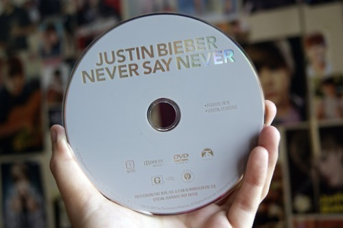 dvd, go die, justin bieber, mine, never say never