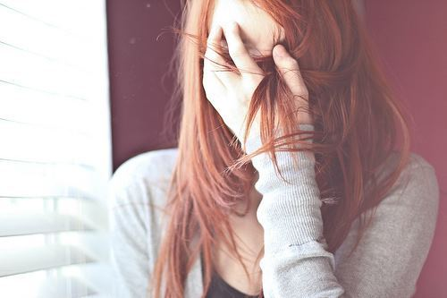 facepalm, girl, hair, photography, readhead