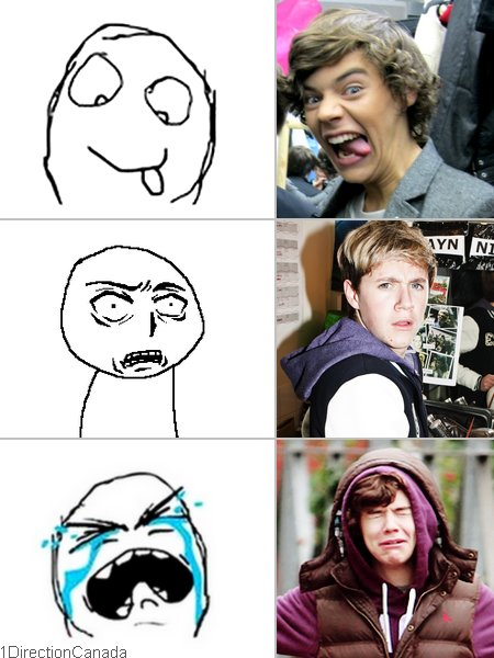 faces, funny, harry styles, meme, memes, niall horan, one direction