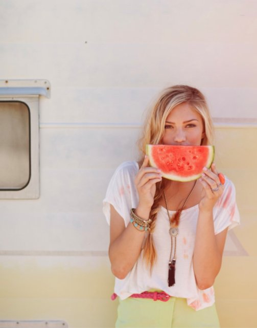 fashion, girl, melon, summer