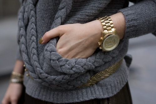 fashion, gold, grey, mickael kors, style