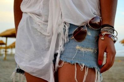 fashion, shorts, sun, white