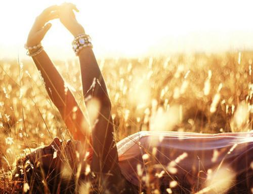 field, girl, laying, pink, pretty