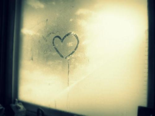 fog, heart, love, photo