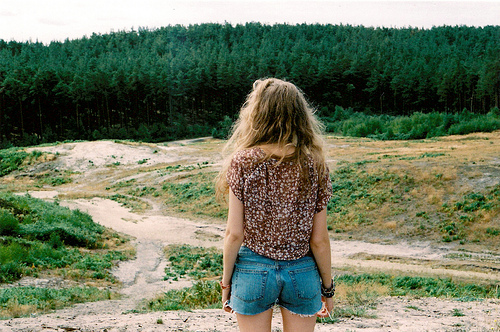 forest, girl, indie, summer