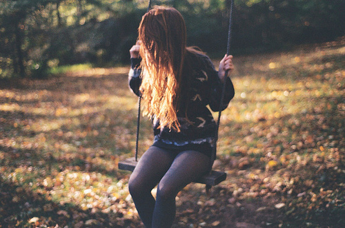 forset, girl, nice, photography, swing